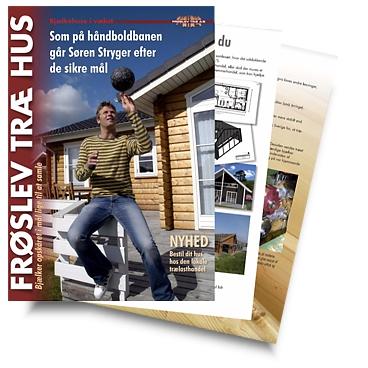 Håndbold herre reklamerer for Frøslev Træ Hus